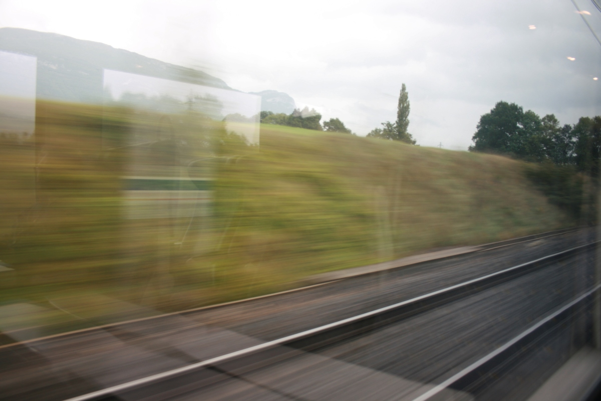 Scenery Out the Train Window