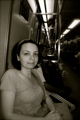 Me on a train. Don't laugh. No one looks good on a train.